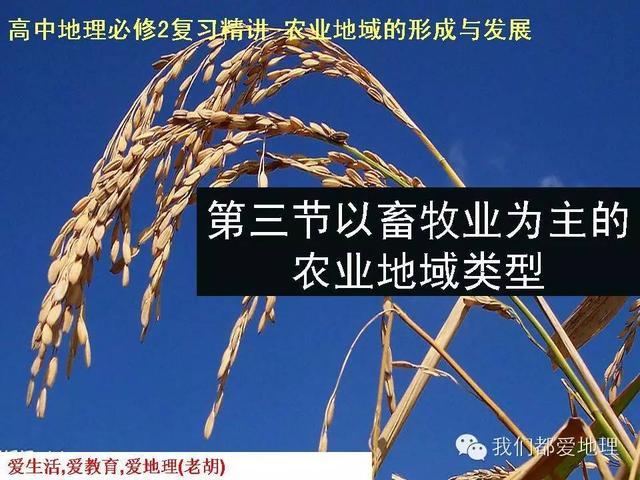 高中地理必修2复习精讲-以畜牧业为主的农业地域类型