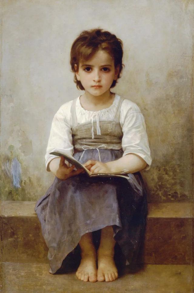 1884年 布面油彩肖像 艰难的一课