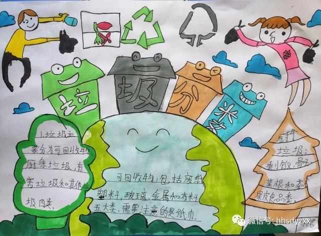 【垃圾分类】黄合少镇第一中心校垃圾分类主题小报优秀作品展  第3张