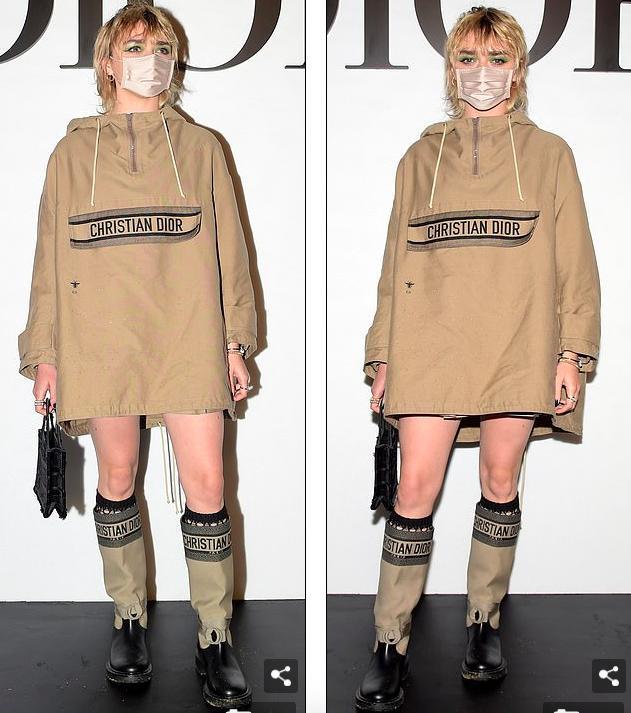 LV少奶婚后首秀Dior巴黎春夏,孟美岐云上看秀穿出一身清流-第9张