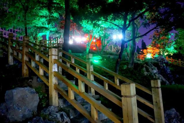 「游园夜景醉游人」晚上8点以后的工人文化宫,美爆了插图27