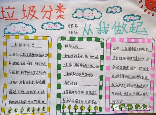 【垃圾分类】黄合少镇第一中心校垃圾分类主题小报优秀作品展  第4张
