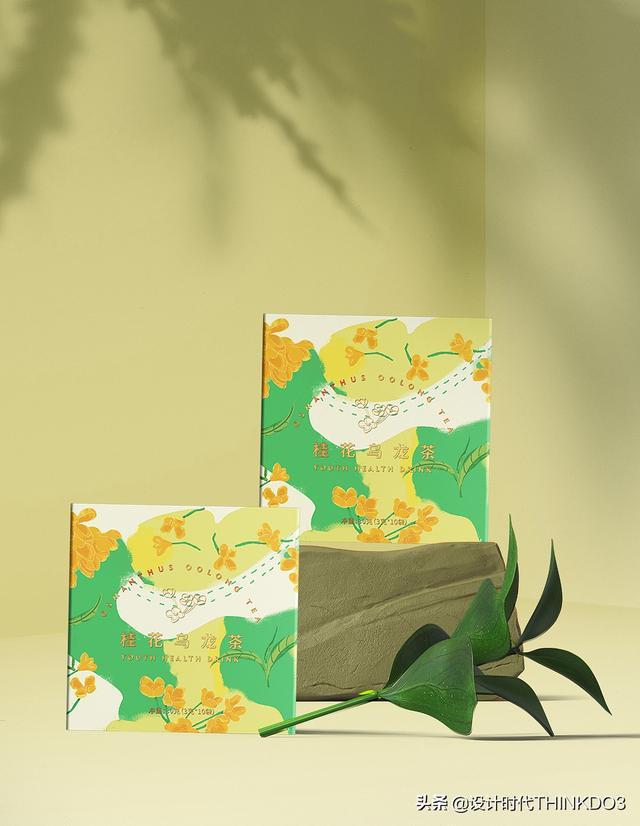两款清新时尚风格的花茶包装设计,简直不要太美(图15)