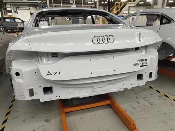 首曝上汽奥迪A7L白车身:3.0T配轻混,售价将不足50万