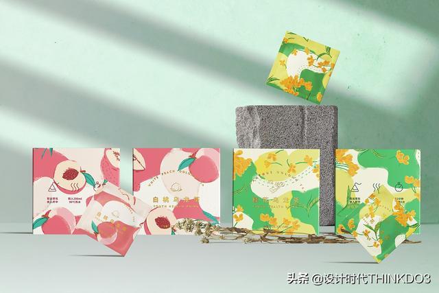 两款清新时尚风格的花茶包装设计,简直不要太美(图26)