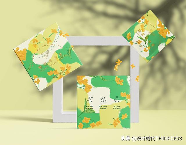 两款清新时尚风格的花茶包装设计,简直不要太美(图18)