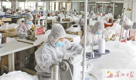 才子服饰股份有限公司紧急改装启动11条生产线生