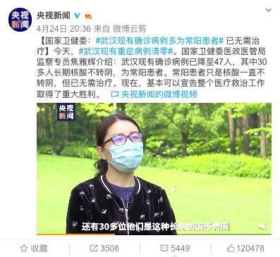 热点|国家卫健委:武汉现有确诊病例多为常阳患者,已无需治疗_加拿大28群