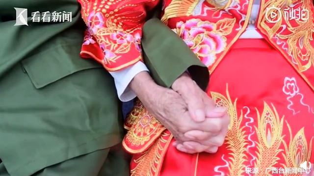 92岁老兵迟来76年的婚纱照火了,网友纷纷送祝福-第2张
