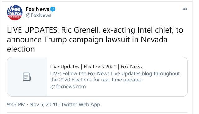 快讯!美媒:特朗普竞选团队将在内华达州提起诉讼 全球新闻风头榜 第1张