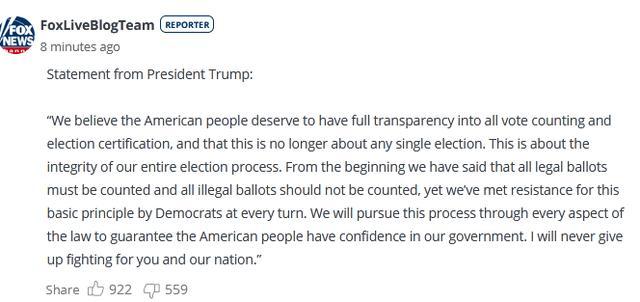 快讯!特朗普再发声明:永远不会放弃为你们和我们的国家而战 全球新闻风头榜 第1张