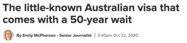 """办签证等待时间长达50年!无PR""""永久""""留在澳大利亚是种怎样的体验?"""