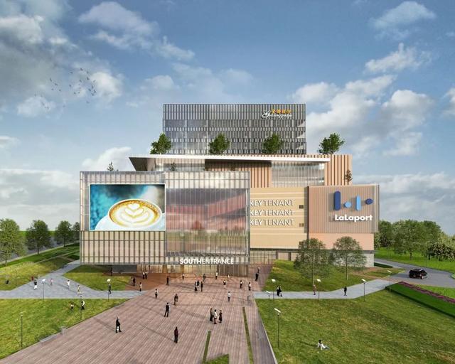 """中国首个啦啦宝都商场项目竣工,18米高达将在门口""""迎客"""""""