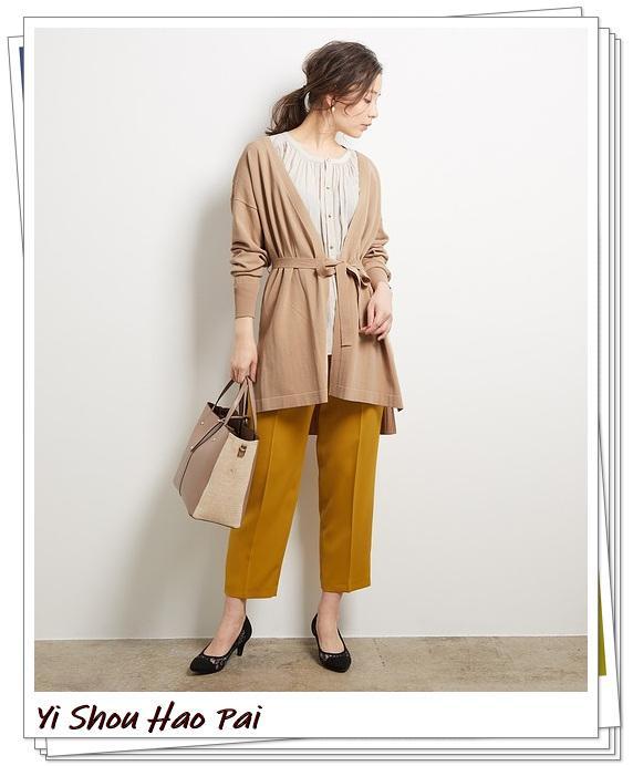米色开衫的秋季搭配精选!24种你值得尝试的优雅穿搭-第3张