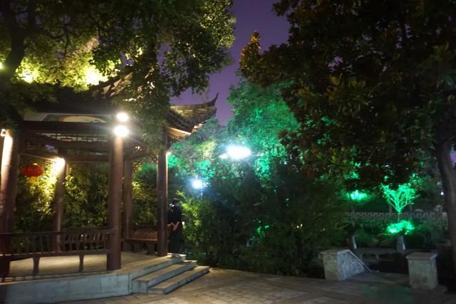 「游园夜景醉游人」晚上8点以后的工人文化宫,美爆了插图19