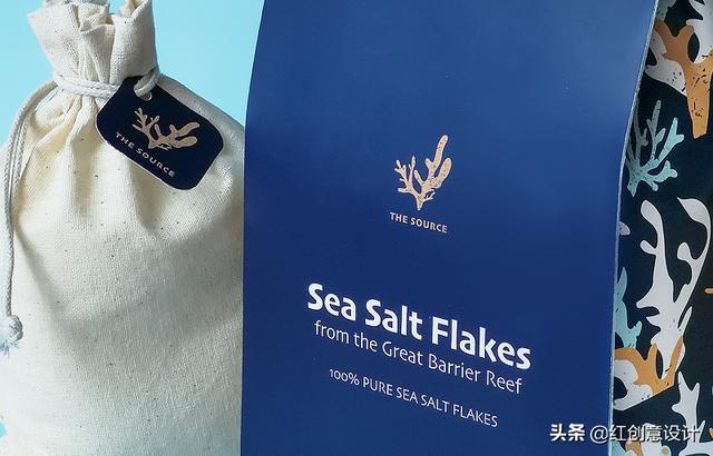 简洁与繁美的合理搭配,海盐礼品包装设计(图1)