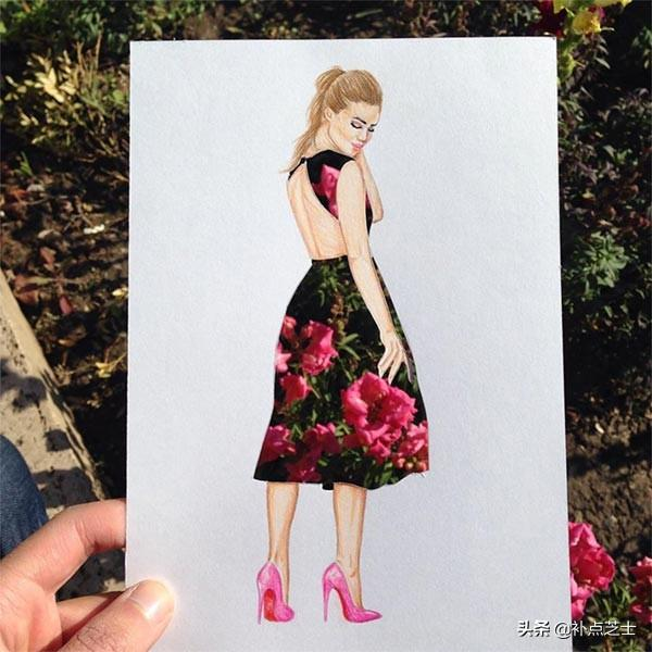 俯拾皆是服饰的灵感,与日常用品完美结合的时尚服饰拼贴艺术-第10张