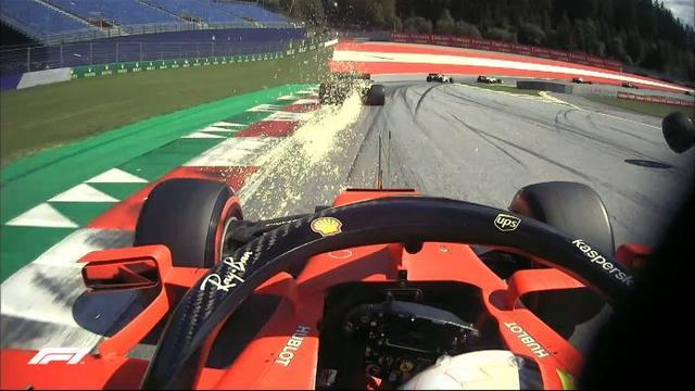 发布F1奥地利大奖赛混乱场面之莱科宁:我的轮胎呢?