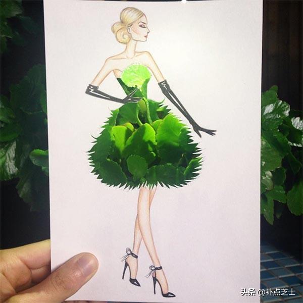 俯拾皆是服饰的灵感,与日常用品完美结合的时尚服饰拼贴艺术-第15张