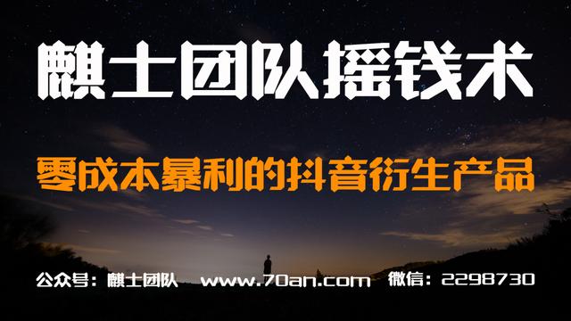 麒士团队摇钱术05:零成本暴利的抖音衍生产品【视频课程】