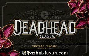 适合表现万圣节的英文字体 Deadhead Classic #241882