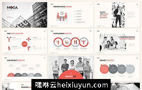 高端优雅配色的时尚keynote幻灯片moga-small-business #276547
