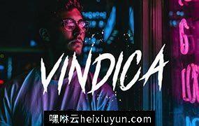 朋克风个性手写字体 Vindica – Rebel Font #2228087