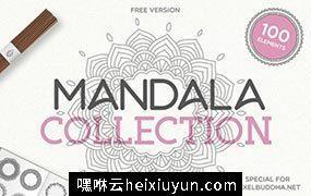 100 Vector Mandala Illustrations 矢量花边圆圈图片