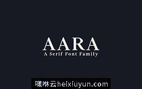 经典漂亮的衬线字体 Aara Serif 9 Font Family Pack #1377631