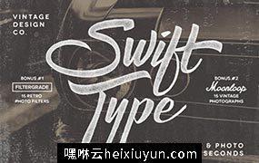 复古文本照片样式 SwiftType. Retro Type #80533