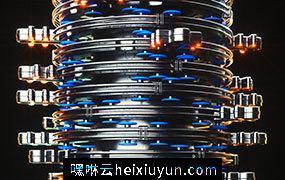 [11-05-18]—Lissage-(Still)弹簧状圆筒转盘C4D动画工程文件分享