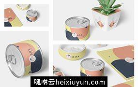 食品罐头包装样机模板Packaging Mockups #3483317