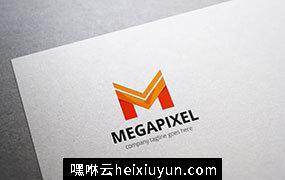 创意字母M标志Logo模板 Megapixel-Letter-M-Logo #353227