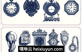 复古画作Vintage clocks and watches #1979705