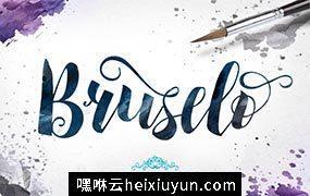 粗细有致的字体 Bruselo #316581