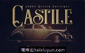 城堡神秘风格的字体 Castile  4 Display Fonts #1542118