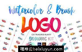 1400个创意现代水彩标志logo设计模板 1400 LOGOS MEGA BUNDLE PACK #1312306