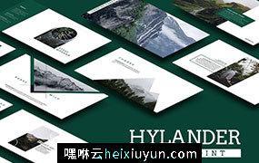 简约优雅时尚的幻灯片hylander-powerpoint #322567