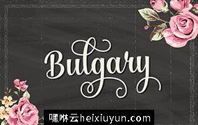浪漫的手绘字体 Bulgary Script #78162