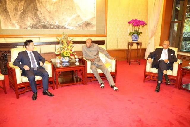 董事长曾奎与几内亚总统谈合作