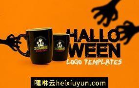 万圣节的标志模板 Halloween Logo Templates #902124