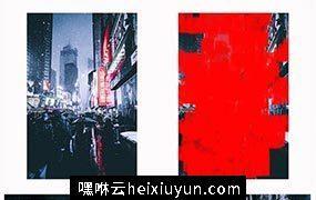 抽象艺术印象派绘画风格PSD动作素材gallery_photoshop_action #21403606