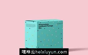 Photorealistic Cardboard Package Box Mockup PSD
