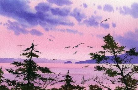 水彩画教程:在松节油上作画的技巧