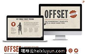 怀旧PPT模板 Offset Powerpoint Template #471890