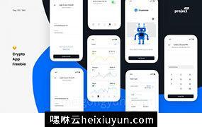 加密货币管理移动应用UI工具包 Crypto App – iOS UI Kit 每日UI源文件分享