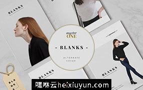现代极简风格服装杂志画册设计模板 BLANKS Minimal Lookbook Magazines #2982265