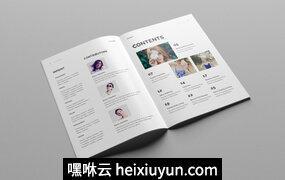 创意极简的时尚杂志模板下载 Creative Minimal Fashion Magazine