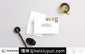 信封卡片样机模板 Envelope & Card Mockup #277288