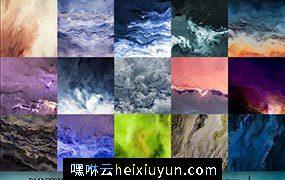 暴风雨效果的纸张背景纹理素材 Painted Paper Texture Storm #1286036
